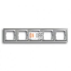 Рамка пятерная ABB Pure нержавеющая сталь 1754-0-4321