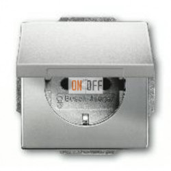 Розетка с заземляющими контактами 16 А / 250 В~, с откидной крышкой 2018-0-1490