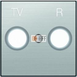 Розетка TV-R проходная ABB Sky, нержавеющая сталь 8150.7 - 8550 AI