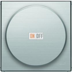 Светорегулятор поворотно-нажимной для LED (светодиодный), 4-100 Вт/ВА ABB Sky, нержавеющая сталь 6512-0-0335 - 8560.2 AI