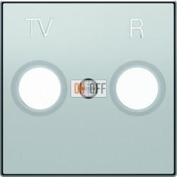 Розетка TV-R проходная ABB Sky, серебряный 8150.7 - 8550 PL