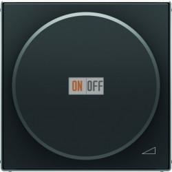 Светорегулятор поворотно-нажимной для LED (светодиодный), 4-100 Вт/ВА ABB Sky, черный бархат 6512-0-0335 - 8560.2 NS