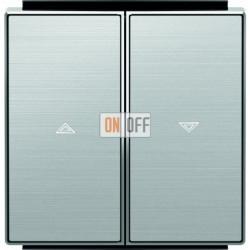 Выключатель управления жалюзи кнопочный ABB Sky, нержавеющая сталь 8144 - 8544 AI