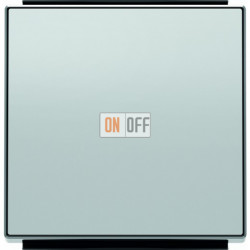 Выключатель одноклавишный ABB Sky, 10 А, серебряный 8101 - 8501 PL