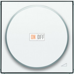 Светорегулятор поворотно-нажимной для LED (светодиодный), 4-100 Вт/ВА ABB Sky, белый 6512-0-0335 - 8560.2 BL