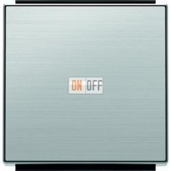 Выключатель одноклавишный с подсветкой ABB Sky, 10 А, нержавеющая сталь 8101 - 6192 BL - 8501.3 AI