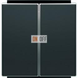 Переключатель двухклавишный ( с 2-х мест) ABB Sky, 10 А, черный бархат 8122 - 8511 NS