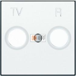 Розетка TV-R единственная ABB Sky, белый 8150 - 8550 BL