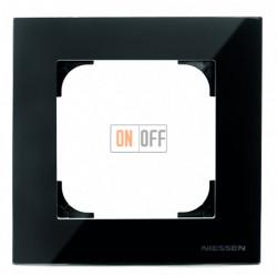 Рамка одинарная ABB Sky, черное стекло 8571 CN