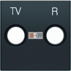Розетка TV-R проходная ABB Sky, черный бархат 8150.7 - 8550 NS
