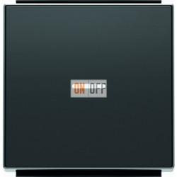 Переключатель одноклавишный  с подсветкой ( c 2-х мест) ABB Sky, 10 А, черный бархат 8102 - 6192 BL - 8501.3 NS