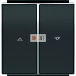 Выключатель управления жалюзи клавишный ABB Sky, черный бархат 8144.1 - 8544 NS