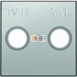 Розетка TV-R/SAT проходная ABB Sky, нержавеющая сталь 8151.8 - 8550.1 AI