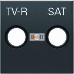 Розетка TV-R/SAT проходная ABB Sky, черный бархат 8151.8 - 8550.1 NS