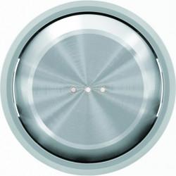 Выключатель одноклавишный  с подсветкой ABB Skymoon, 10 А, хром 8101 - 6192 BL - 8601.3 CR