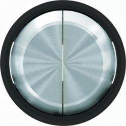 Выключатель двухклавишный ABB Skymoon, 10 А, черное стекло 8111 - 8611 CN