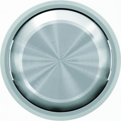 Выключатель одноклавишный перекрестный с подсветкой  (с 3-х мест) ABB Skymoon, 10 А, хром 8110 - 6192 BL - 8601 CR