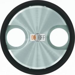 Розетка TV-R/SAT проходная ABB Skymoon, черное стекло 8151.8 - 8650 CN