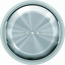 Переключатель одноклавишный с подсветкой ( c 2-х мест) ABB Skymoon, 10 А, хром 8102 - 6192 BL - 8601.3 CR