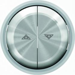 Выключатель управления жалюзи кнопочный ABB Skymoon, хром 8144 - 8644 CR