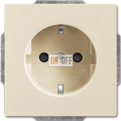 Розетка электрическая ABB 16А 250В, безвинтовые клеммы (слоновая кость) 2011-0-6214