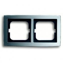 Рамка двойная ABB Solo матовый хром 1754-0-4537