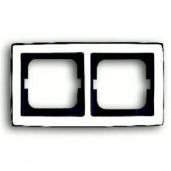 Рамка двойная ABB Solo глянцевый хром 1754-0-4327
