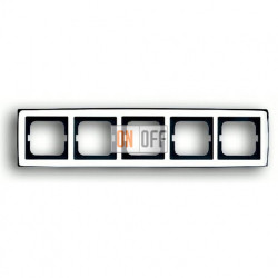 Рамка пятерная ABB Solo глянцевый хром 1754-0-4330