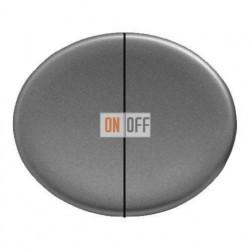 Выключатель двухклавишный 10А Tacto (Серебряный) 8111 - 5511 PL