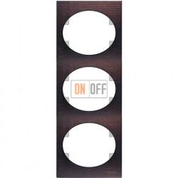 Рамка трехместная вертикальная ABB Tacto (венге) 5573 WG