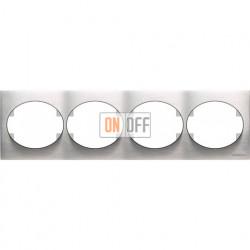 Рамка четырехместная горизонтальная ABB Tacto (сталь) 5574.1 OX