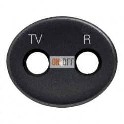Розетка TV-R-SAT проходная Tacto (Антрацит) 8151.8 - 5550 AN