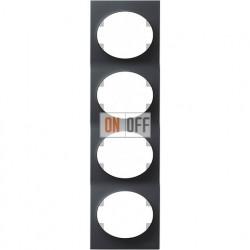 Рамка четырехместная вертикальная ABB Tacto (антрацит) 5574 AN