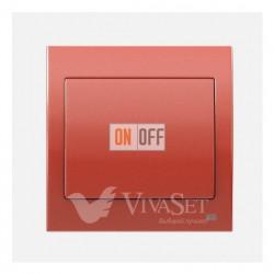 Выключатель  1 клавишный перекрестный (из 3-х мест) 16А 250V~ BJC Iris медь 18507 - 18705-CJ