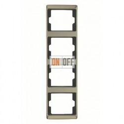 Рамка четверная, для вертикального монтажа Berker Arsys, светлая бронза 13440001