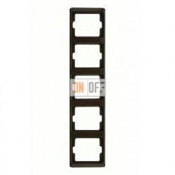 Рамка пятерная, для вертикального монтажа Berker Arsys, коричневый глянцевый 13530001