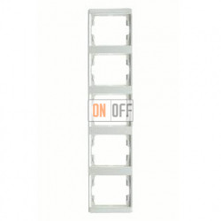 Рамка пятерная, для вертикального монтажа Berker Arsys, белый глянцевый 13530069