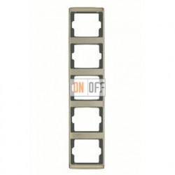 Рамка пятерная, для вертикального монтажа Berker Arsys, светлая бронза 13540001