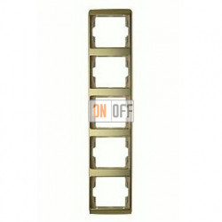 Рамка пятерная, для вертикального монтажа Berker Arsys, золото 13540002