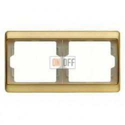 Рамка двойная, для горизонтального монтажа Berker Arsys, золото 13640002