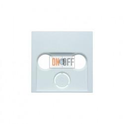 Розетка  проходная TV SAT FM, диапазон частот от 4 до 2400 MГц, белый глянцевый 12038989 - S4110