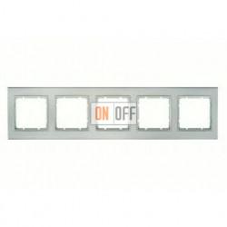 Рамка пятерная, для горизонтального/вертикального монтажа Berker B.3 алюминий-белый 10153904