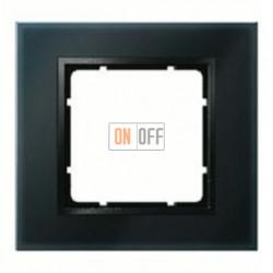 Рамка одинарная Berker B.7 Glass черное стекло 10116616