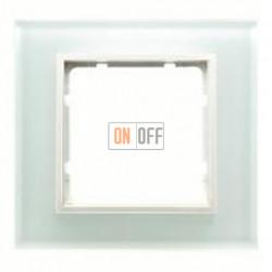 Рамка одинарная Berker B.7 Glass белое стекло 10116909