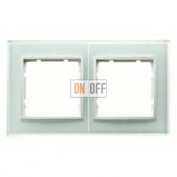 Рамка двойная, для гориз./вертик. монтажа Berker B.7 Glass белое стекло 10126909