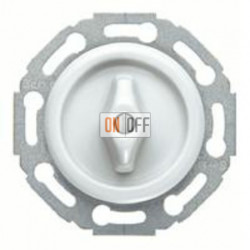 Поворотный перекрестный выключатель/переключатель (вкл/выкл с 3-х мест), материал ручки - пластик белый глянцевый 1647 - 387700