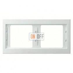 Рамка двойная, для горизонтального монтажа Berker K.1, белый глянцевый 13637009