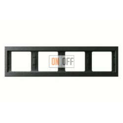 Рамка четверная, для горизонтального монтажа Berker K.1, антрацит 13837006