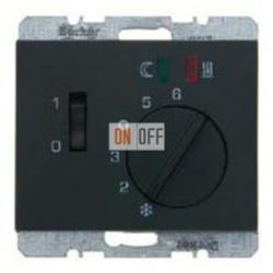 Термостат 230 В~ 10А с выносным датчиком для электрического подогрева пола механизм Eberle 16727106 - FRe 525 22