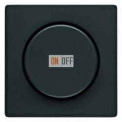 Светорегулятор поворотно-нажимной 60-400 Вт. для ламп накаливания и галог.220В, антрацит 283010 - 11376086